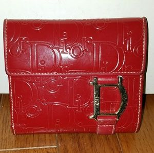 Christian Dior Red Signature Wallet